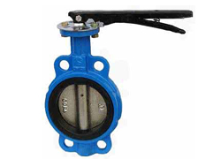 butterfly valve with double flange