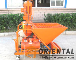 Mortar plaster machine