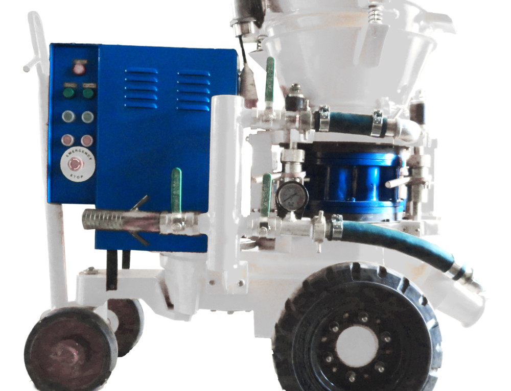 How to choose a concrete spraying shotcrete gunite machine?