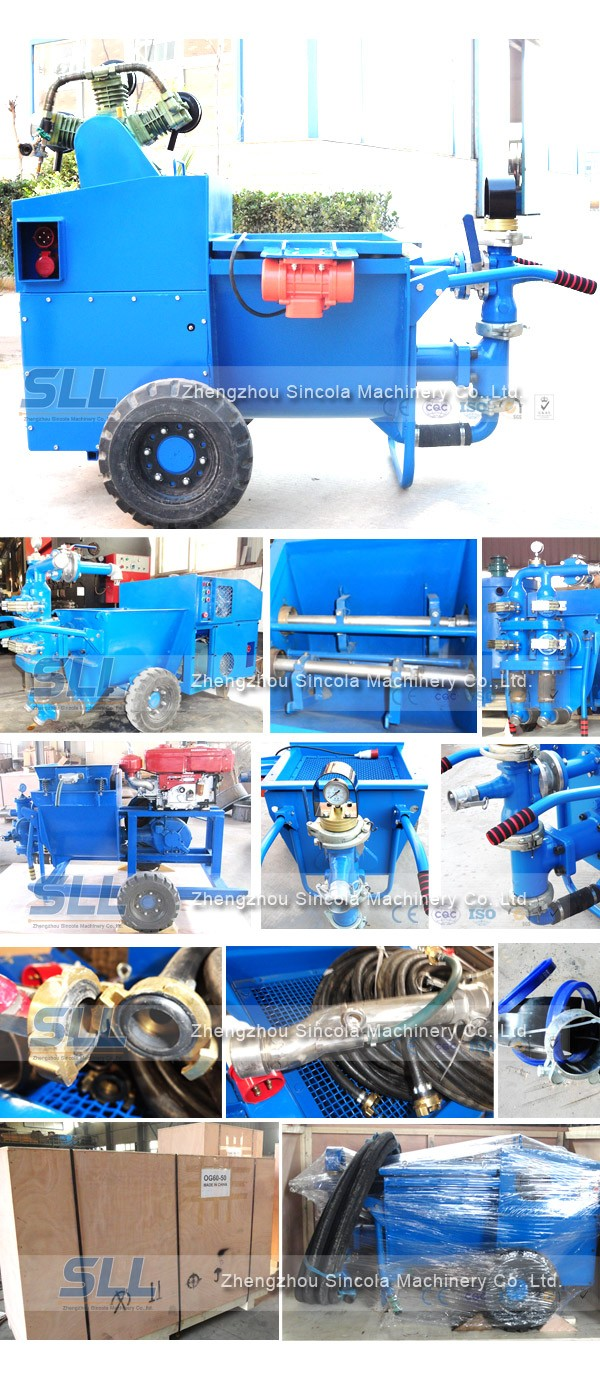 Grouting cement mortar pump
