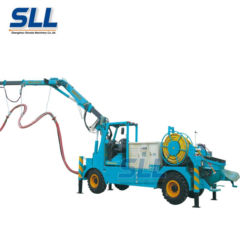 concrete spraying system